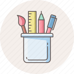 drawing, geometric, geometry, pencil, shape, stationary, stationery icon