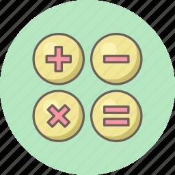 accounting, calculate, calculation, calculator, math, mathematics, maths icon