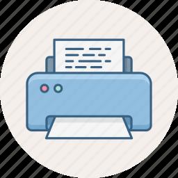 print, printer, printing, printout icon