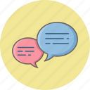 bubble, chat, comment, feedback, message, sms, text icon