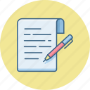 document, edit, notes, pen, pencil, write, writing icon