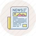 communication, hotnews, letter, media, news, newsletter, newspaper icon