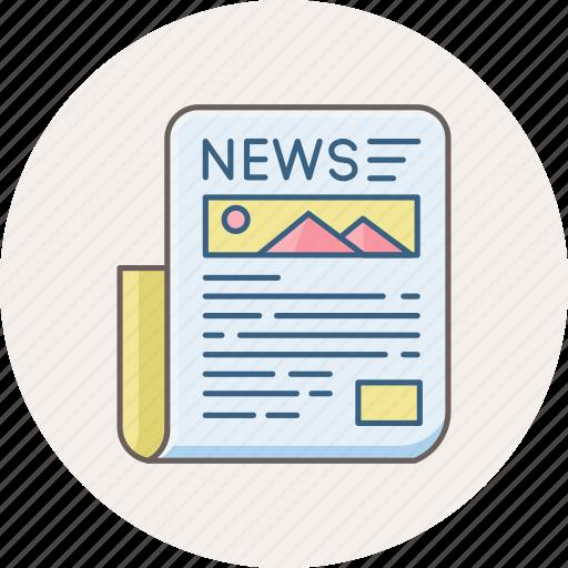 communication, hotnews, letter, media, news, newsletter, newspaper icon