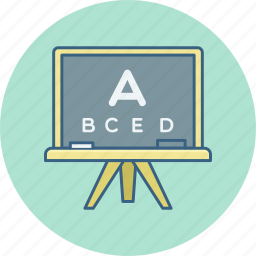 abcd, board, class, classes, english, eye, test icon