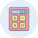 accounting, calculation, calculator, math, mathematical, mathematics, maths icon