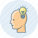 battery, brain, electric, energy, idea, lamp, light icon