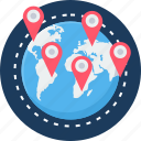 locate us, location, map, world icon