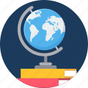 country, education, globe, study icon