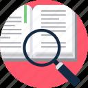 topic, search, study icon