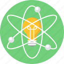 atom, bulb, innovation, invention icon