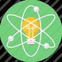 bulb, atom, invention, innovation icon