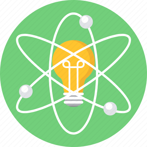 Atom, bulb, innovation, invention icon - Download on Iconfinder