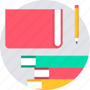 book, books, education, library, note icon