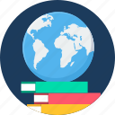 education, global, globe, learning, study icon