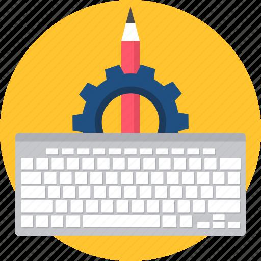 key, keyboard, keys, pen, setting, settings icon