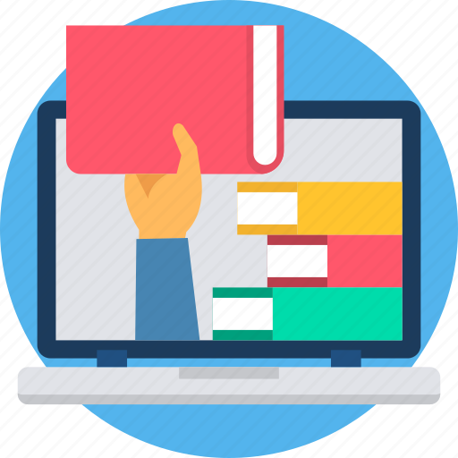 book, online, read, selection, study icon