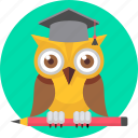 owl, smartclass, smartclasses, professor, cartoon, college, teacher
