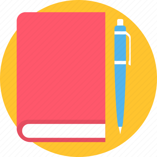 diary, note, pen icon