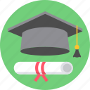 certificate, degree, diploma, graduate, learn, learning icon