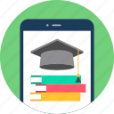 mobile, read, university, reading, library, smartphone, education