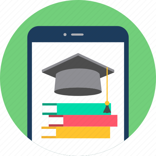 education, library, mobile, read, reading, smartphone, university icon