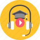 audion, class, classes, listening, music, reading, song icon