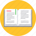 book, education, notebook, notepad, read, reading, study icon