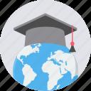 abroad, graduate, graduation, study, university, knowledge, learning