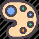 color, colour, paint, palette icon