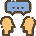 chat, communication, discuss, friend