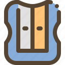 school, sharp, sharpener icon