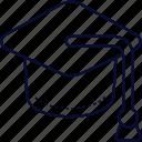 cap, graduate, graduation, mortharboard