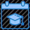 calendar, graduation, degree, school, education