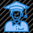 graduation, degree, man, school, education