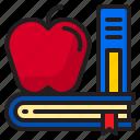 apple, book, education, school, elearning
