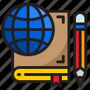 global, elearning, book, education, online