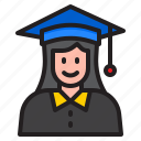 graduation, degree, woman, school, education