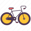 bicycle, exercise, outside, recreation, sport, transport, vehicle icon