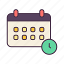 business, calendar, education, schedule, school, study, times icon