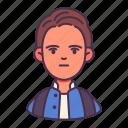 avatar, boy, high school, man, student, study icon