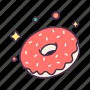 breakfast, donut, eat, energy, food, sugar, sweet