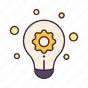 business, creative, idea, knowledge, light bulb, management, thinking icon