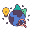 creative, earth, environment, history, knowledge, learning, research icon