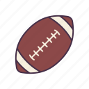 american, club, football, recreation, rugby, school, sport icon