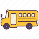 bus, car, education, school, transport, van, vehicle icon
