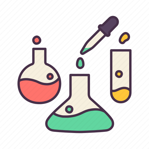 education, exam, experiment, learning, liquid, school, science icon