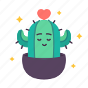 ambition, cactus, fresh, love, patience, plant, resistance icon