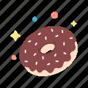 breakfast, donut, eat, energy, food, sugar, sweet icon