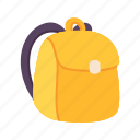 bag, education, school, stationery, student, study, travel icon