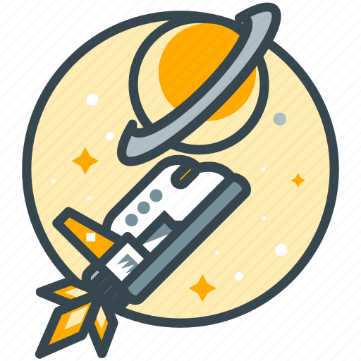 destination, education, science, ship, space, travel icon